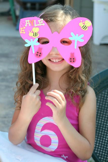 Butterfly mask Our Kind of Wonderful: Picnic In The Garden Party