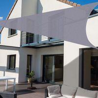 Outsunny Toldo Vela Triangular de Tela Gris 5m para Jardín Gris