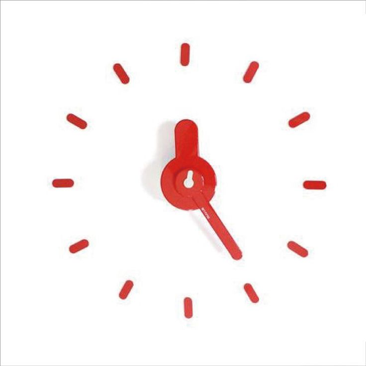 citiesocial – On - Time Wall Clock 牆上貼 - 時計 - Red