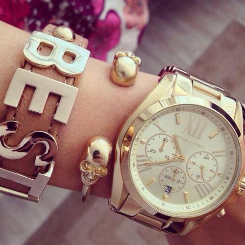 #watch Michael Kors #gold #armcandy