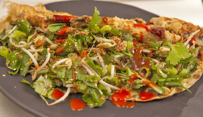 Oriental BBQ Pork Omelette - Good Chef Bad Chef