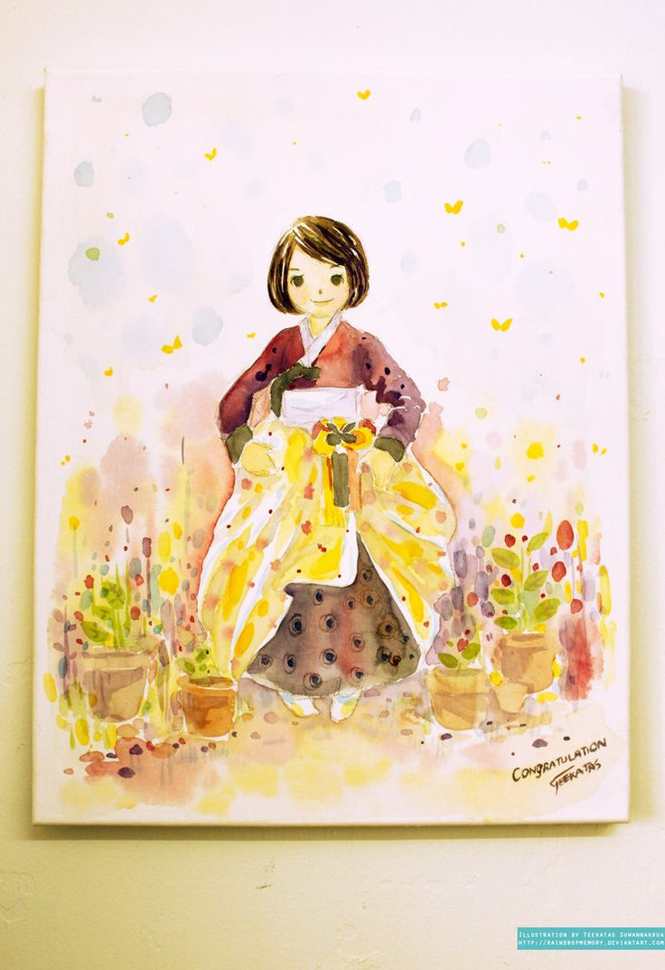 Cheerfully Yours, Hanbok Girl by Raindropmemory on deviantART