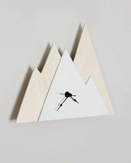 Shake My Blog | Une horloge montagne DIY