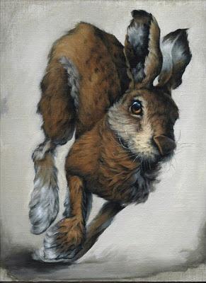 Vanessa Foley March Hare 2 Acrylic on linen panel