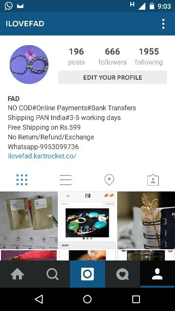 Follow us on Instagram- @ilovefad