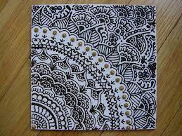 Mandala / Henna Acrylic Puffy Paint Canvas Art