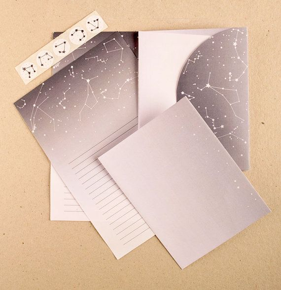 constellation stationary printable pdf download tools supplies