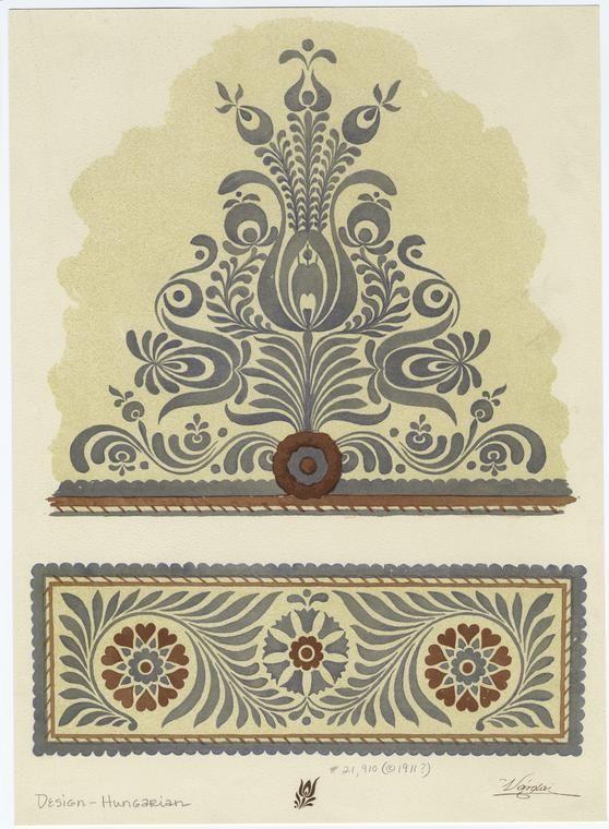 Ornamets print, Várdai Constantin - 1911?