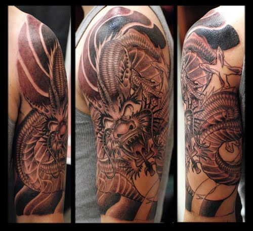 Animal Tattoos – There are many different animal tattoos that make great half sleeve tattoos for men ideas. Description from crazytattoopics.com. I searched for this on bing.com/images