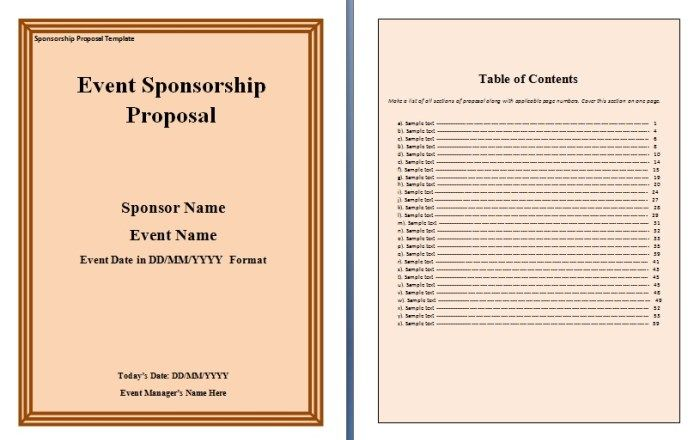 Sponsorship Proposal Template proposal Pinterest Proposal - free sponsor form template