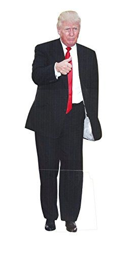 Aahs Engraving President Donald Trump Life Size Carboard Stand Up (Red)  Aahs Engraving Life-size Donald Trump Novelty Cardboard Standup  Standing Cardboard Cutout of Donald Trump Giving a Thumbs UP  Depicted Dressed in a Black Suit with a Red Tie  73 x 21.5 inches  Funny Atmospheric Decoration