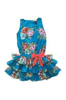 Floral Ruffle Dress (Baby, Toddler, Little Girls,