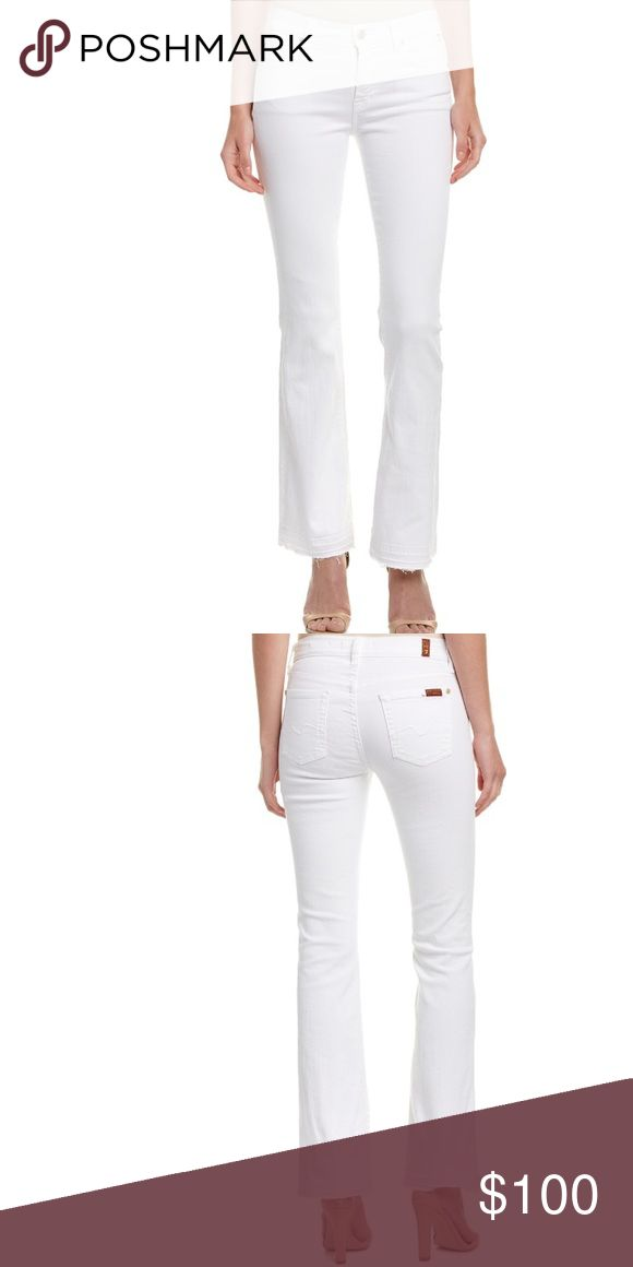 """COMING SOON! 7 For All Mankind Iconic Jeans White bootcut jeans. 30.5"""" inseam, 9"""" front rise, 22"""" back rise. 7 For All Mankind Jeans Boot Cut"""