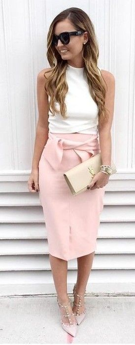 #spring #fashion | White On Pink Ladylike Chic | For All Things Lovely