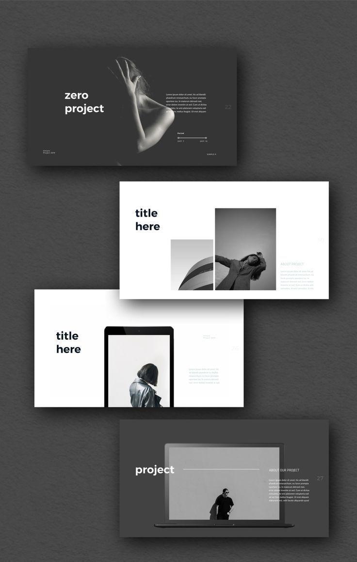 Zero Powerpoint Template In 2021 Portfolio Design Layout Presentation Design Layout Powerpoint Design Templates