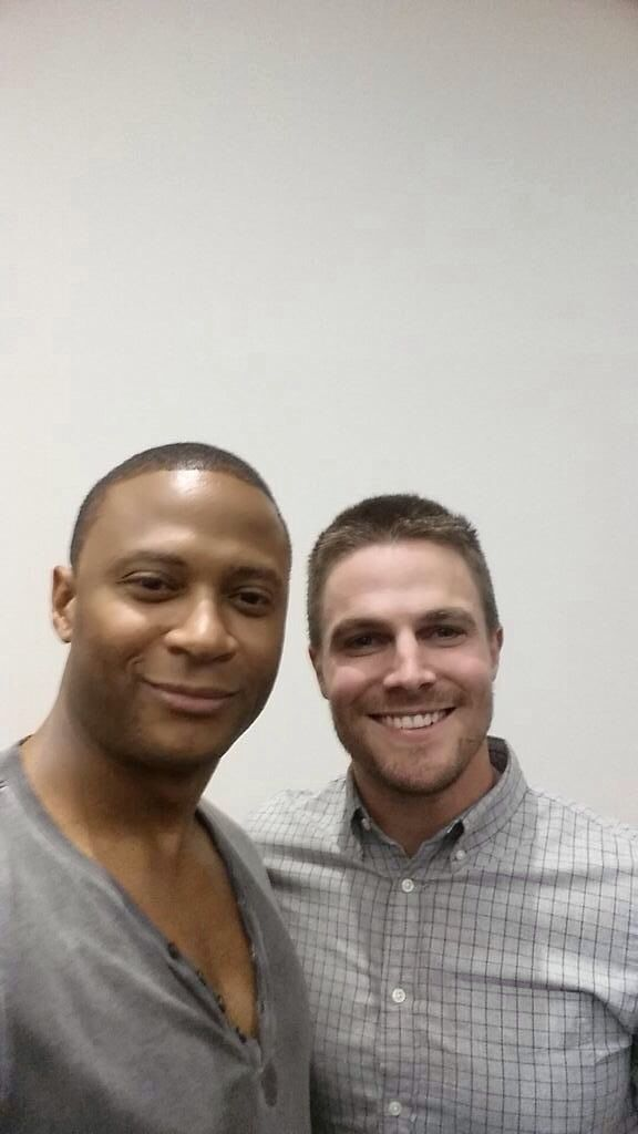 Stephen Amell and David Ramsey #SDCC