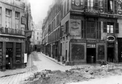 Rue Maitre Albert Paris -1858 -- Crédit Photo: © Charles Marville