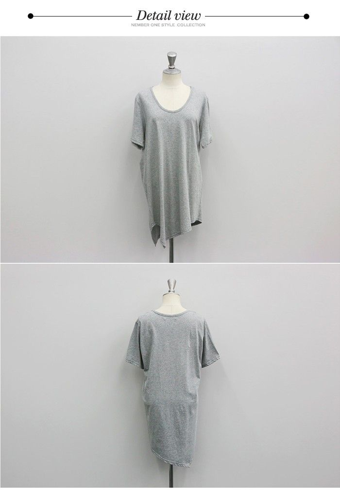無地 tシャツ レディース 半袖/アシンメトリー Tシャツ/ゆるtシャツ レディース/ゆったり tシャツ/tシャツ レディース/コットン tシャツ