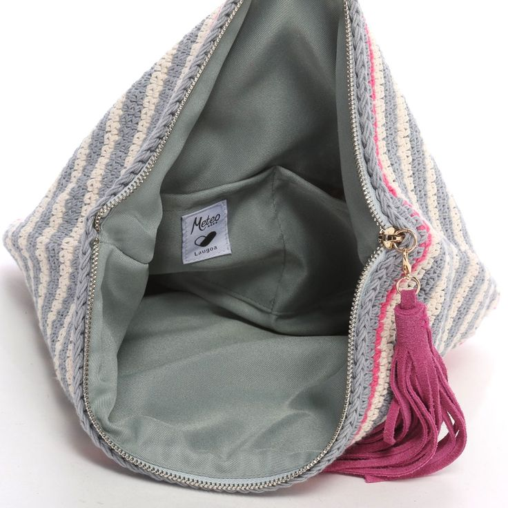 Laugoa crochet clutch bag (inside)