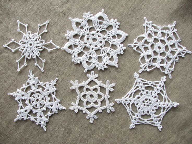 Crochet Snowflakes Christmas Home Decors Christmas Ornaments Wedding Decors  Appliques (set Of