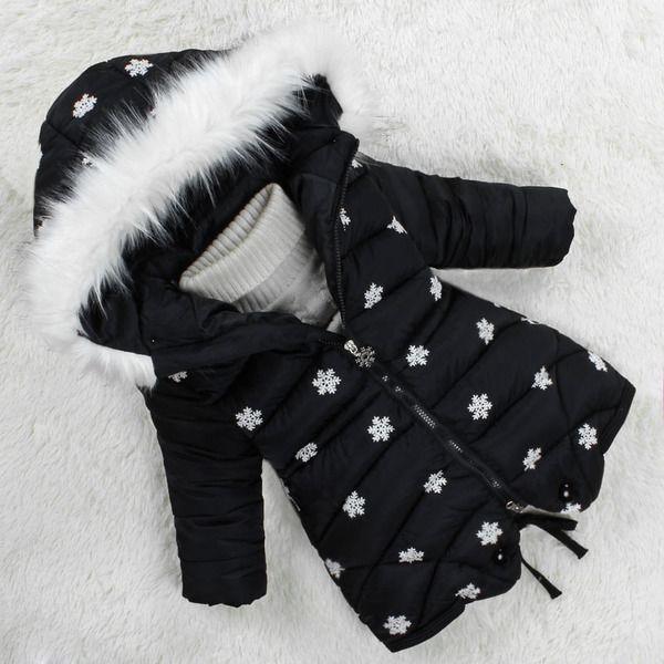 Детские куртки осень-зима из Китая :: Девушки хлопка ребенка дети девушки Зимняя куртка пальто зимы длинные хлопка детской одежды в 2016 году новый утолщенной.