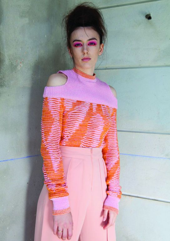 knit jumper collab with Georgia Clark