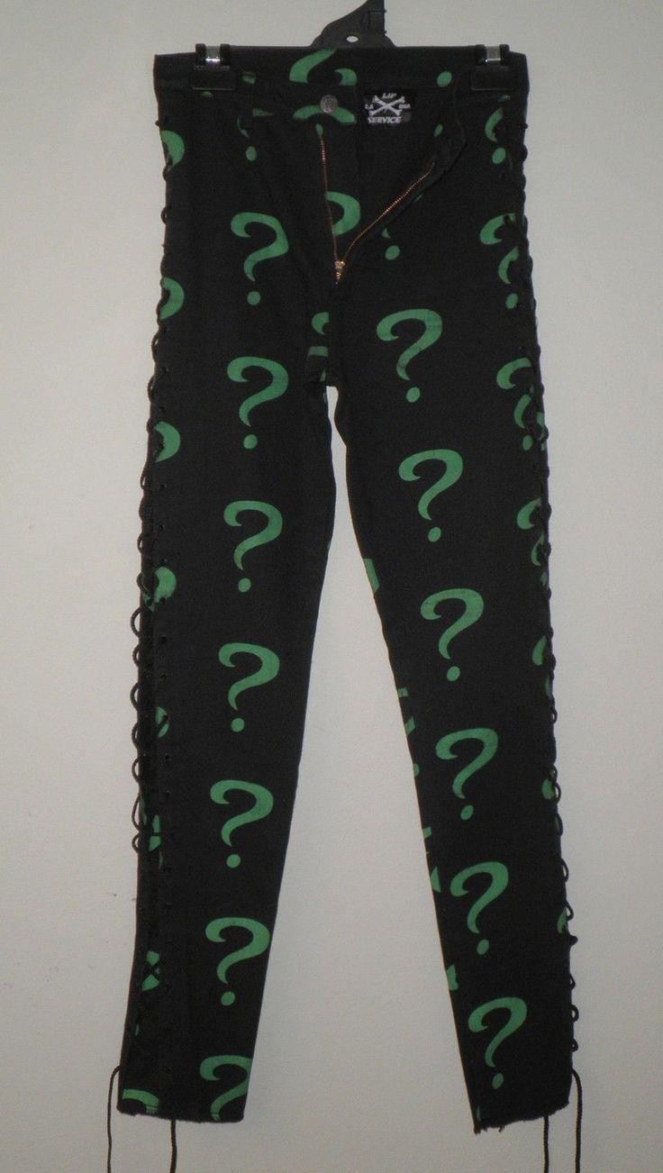 LIP SERVICE Cotton Twill lace side jeans #TLUJS
