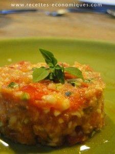 Salade tomates courgettes au thermomix - recettes economiques