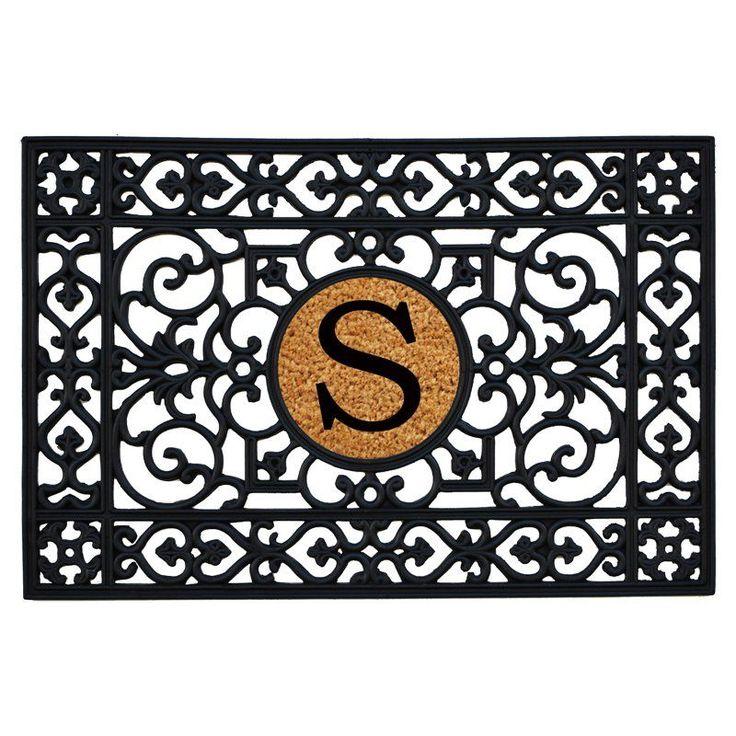 Home & More Rubber Monogram Doormat - 24 x 36 in. - 160012436