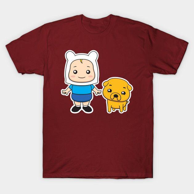 Adventure kids Finn and Jake #finn #jake #finnthehuman #jakethedog #dog #pet #kid #boy #cute #cartoon #vector #adventuretime #puppy #vectorart #prints #tshirt #teepublic