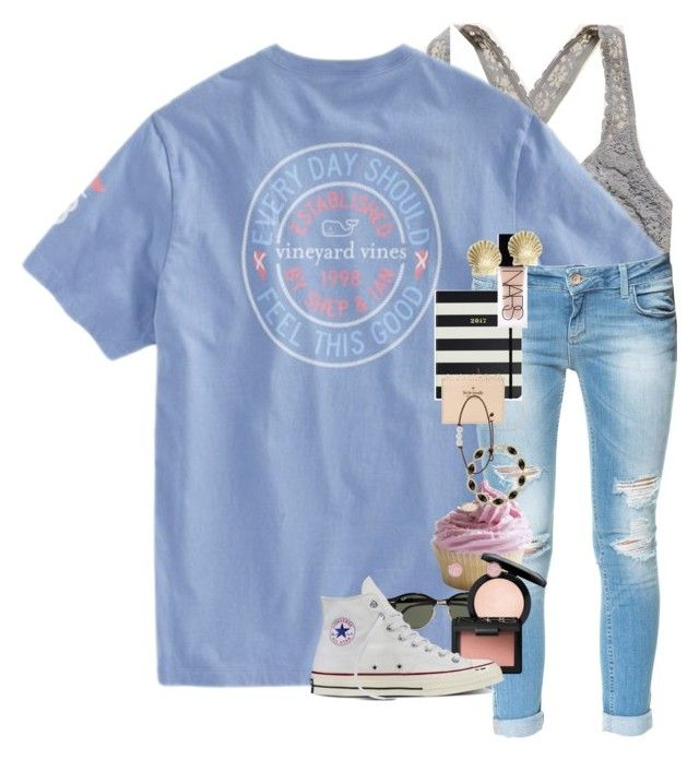 """""""EDSFTG // Erin Leigh"""" by southern-preps1 ❤ liked on Polyvore featuring Aerie, Zara, Ray-Ban, MAC Cosmetics, NARS Cosmetics, Charlotte Russe, Converse, Kendra Scott, Kate Spade and Tiffany & Co."""