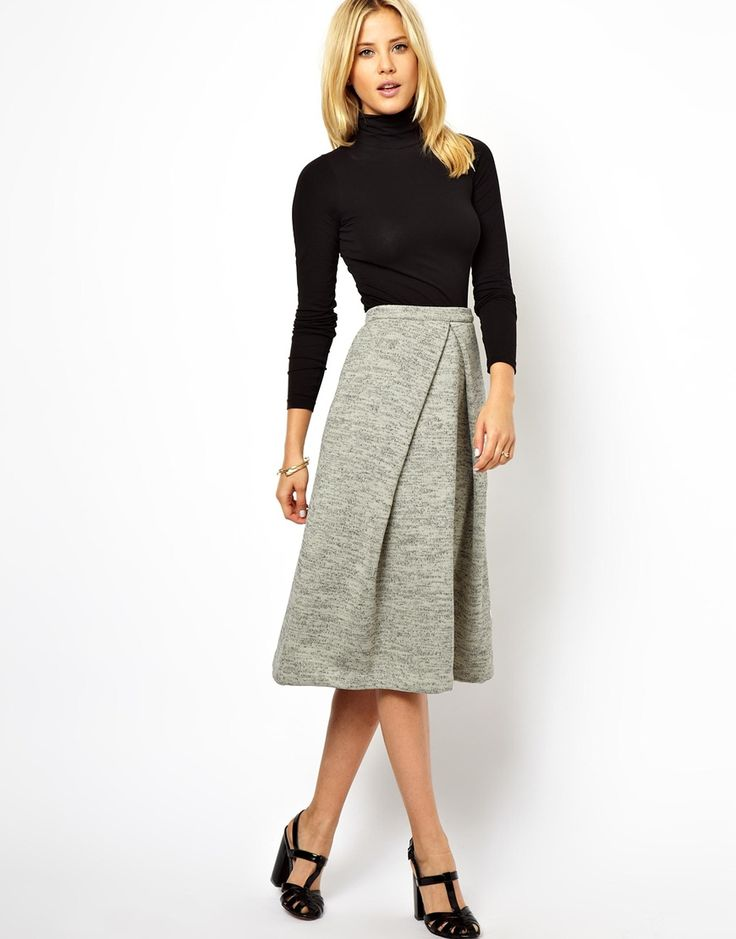 Want to channel your inner Betty Draper?? This fabulous soft-touch midi skirt is the perfect foundation to create your 1950s retro look. Shop through ASOS here http://rstyle.me/~100OS