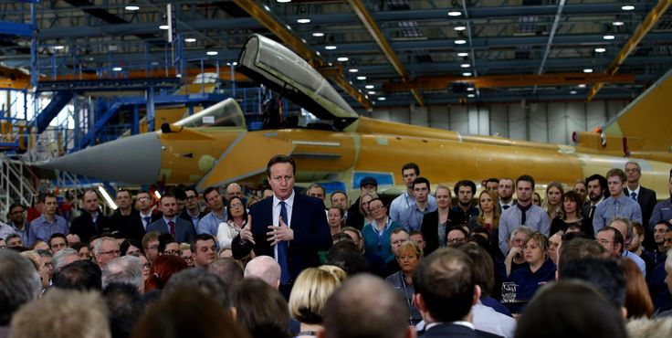 David Cameron has praised British arms companies that have done business with Saudi Arabia - hours after the European Parliament voted for an arms trade embargo with the Kingdom.