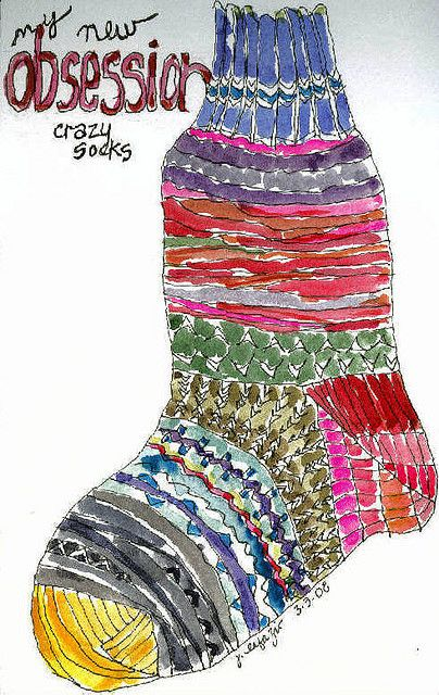 Great idea! Watercolor sock art project