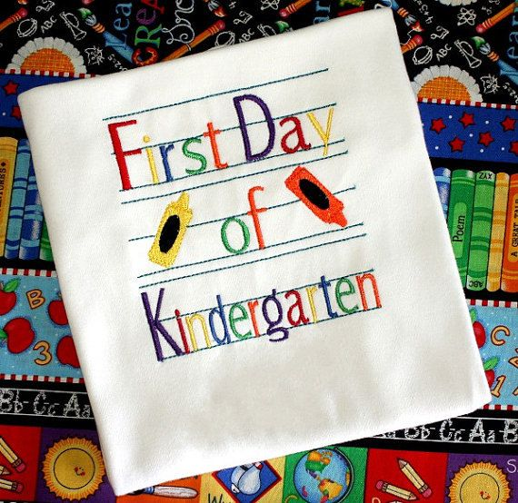 First Day Of Kindergarten Shirt Kindergarten by jcoolcreations