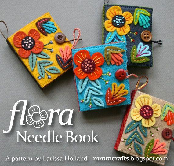 Flora Needle Book PDF pattern por mmmcrafts en Etsy