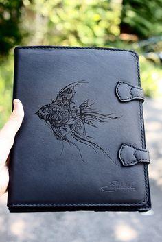 Custom Laser Engraved Saddleback Leather iPad Case by In A Flash Laser, via Flickr