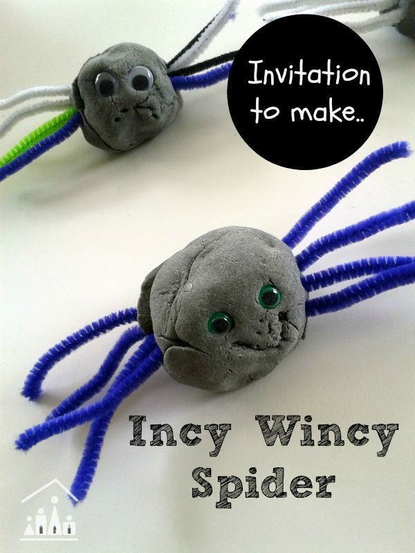 incy wincy spider playdough