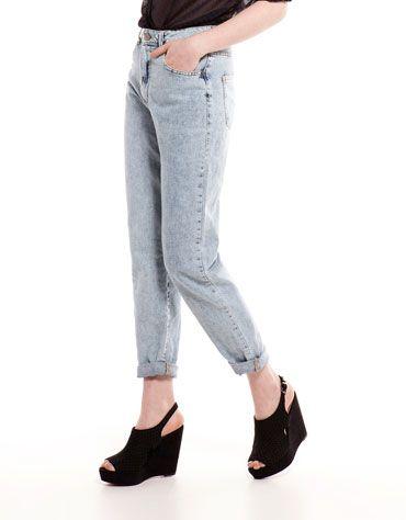 Bershka Российская Федерация - Винтажные джинсы Bershka высокой посадки