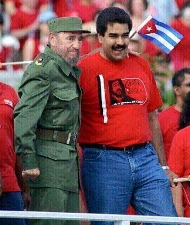 Fidel con Maduro presidente de Venezuela   Fidel castro, Viva cuba ...
