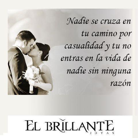 #ElBrillanteFrases  Anillos de compromiso y argollas de matrimonio  #ElBrillanteJoyas  http://www.elbrillantejoyeria.com.co/