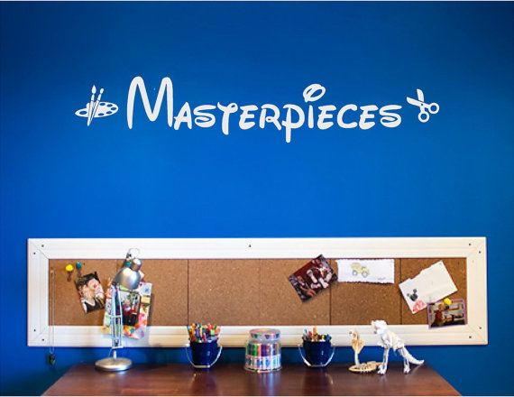 Masterpieces art play room vinyl wall decal by newwavesigns
