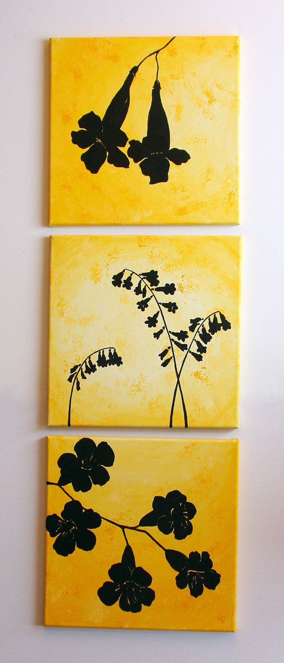 Bell Flowers  Original Painted Silhouettes  by CustomColorArt, $95.00