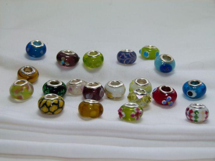 Set of 20 Fabulous Pandora Style beads