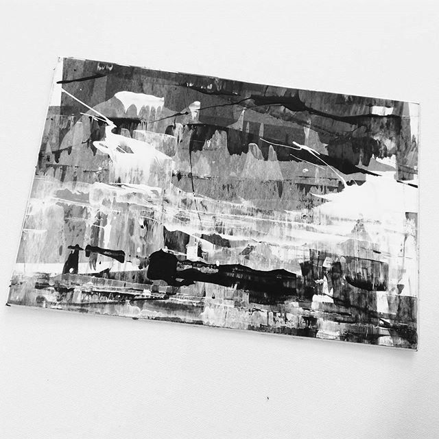 Project Tiny ones continues...  #comtemporaryart #abstractart #grayscale #hannaholopainen