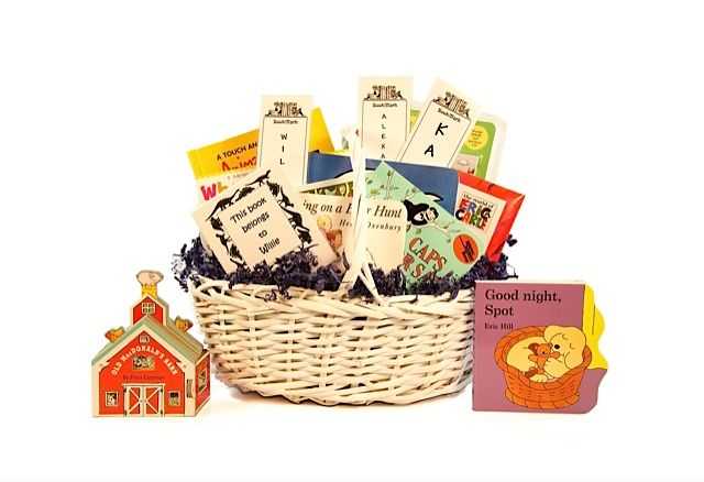 """New Baby With Siblings"".   A new baby with older siblings does not need the classics.  We will fill this basket with ""off-the-beaten-path"" treasures.  $60"