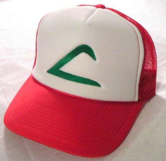 Pokemon Costume Hat Ash Ketchum Original Trainer Hat Halloween costume cap  Adult sz. $9.00, via Etsy.