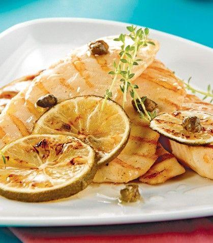 """""""Filetes de pescado a la plancha con salsa de limón"""""""