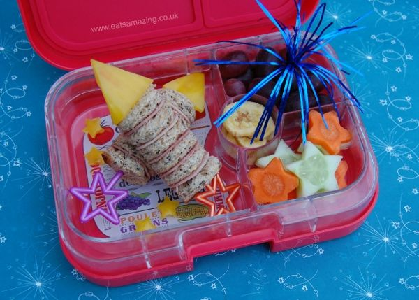 Rocket Firework Themed Bento Lunch in the Yumbox for Bonfire Night - Eats Amazing UK