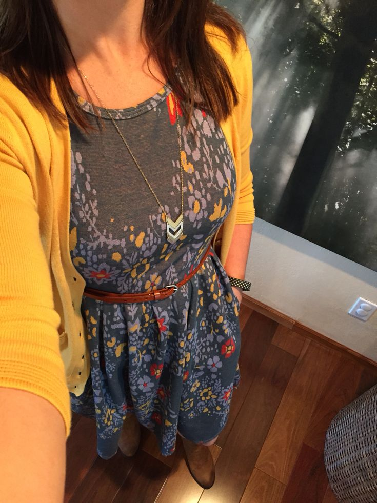 Me! I love the print on this #lularoe Amelia dress